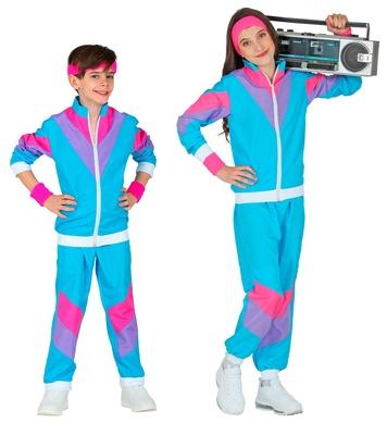 80s BLUE SHELL SUIT (jacket, pants) Childrens
