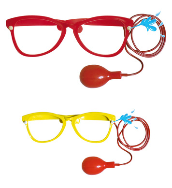 GIANT SQUIRT GLASSES - yellow/red