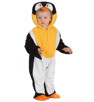 BABY PENGUIN COSTUME (1-2yrs) (jumpsuit headpiece)