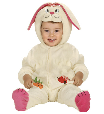 BABY BUNNY RABBIT COSTUME (1-2yrs) (jumpsuit headpiece)