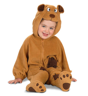 BABY BEAR CUB COSTUME (1-2yrs) (jumpsuit headpiece)