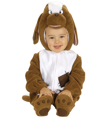 BABY DOG COSTUME (1-2yrs) (jumpsuit headpiece)