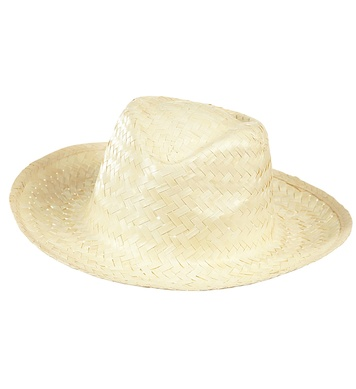 COWBOY HAT STRAW - WHITE