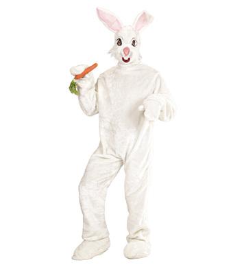 PLUSH BUNNY COSTUME OneSize (costume gloves shoecovers mask)