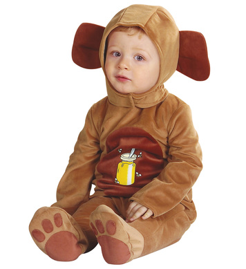 BABY BEAR COSTUME (1-2yrs/90cm) (jumpsuit headpiece)