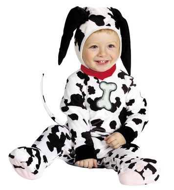 BABY DALMATION COSTUME (1-2yrs/90cm) (jumpsuit headpiece)