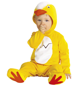 BABY CHICK COSTUME (1-2yrs/90cm) (jumpsuit headpiece)