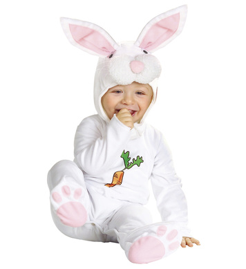 BABY BUNNY COSTUME (1-2yrs/90cm) (jumpsuit headpiece)