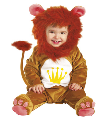 BABY LION COSTUME (1-2yrs/90cm) (jumpsuit headpiece)