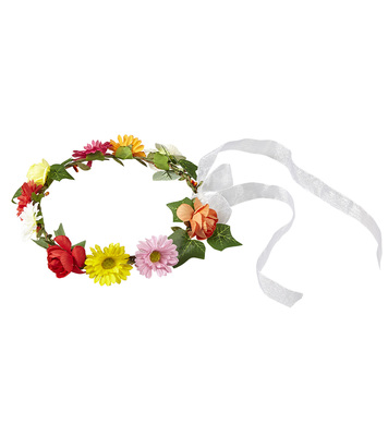 FLOWER DIADEM WITH RIBBON - MULTI