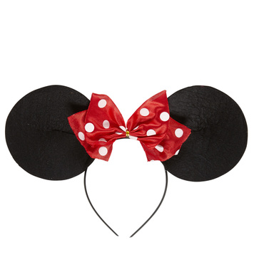 MISS MOUSE EARS HEADBAND W/BOW