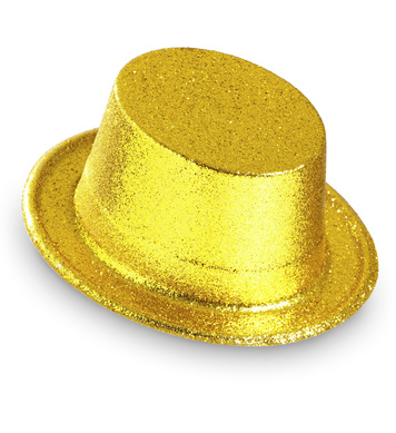 GLITTER TOP HAT - GOLD