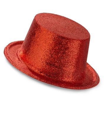 GLITTER TOP HAT - RED