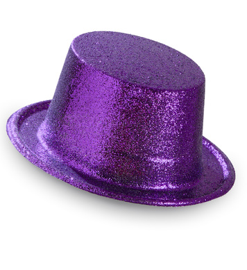 GLITTER TOP HAT - PURPLE