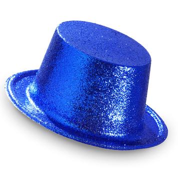 GLITTER TOP HAT - BLUE