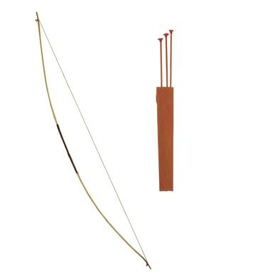 ARCHERY SET W/ BOW QUIVER 152cm