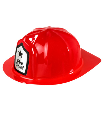 PVC FIREMAN HAT RED - ADULT SIZE