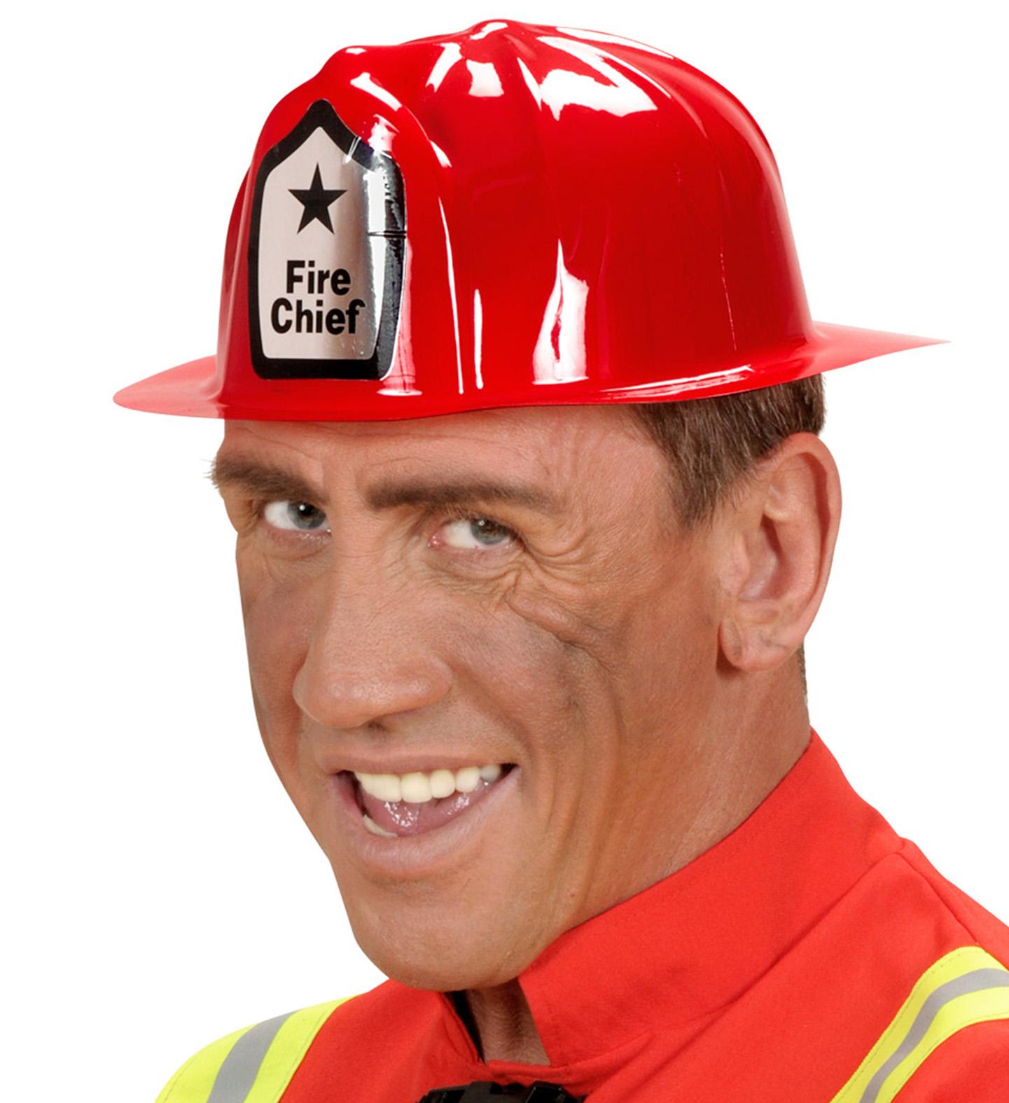 Cappello da POMPIERE IN PVC PER VIGILE DEL FUOCO Pompiere Costume Accessorio