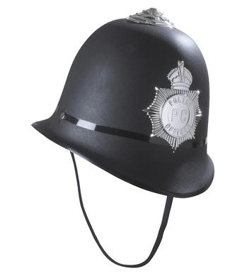HARD PLASTIC BOBBY POLICEMAN HAT