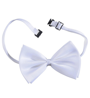 BOW TIE ADJUSTABLE DELUXE - WHITE