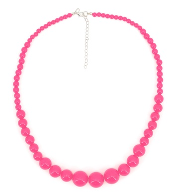 70s BEADED NECKLACE - PINK