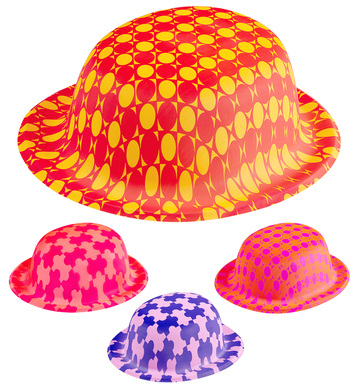 FANTASY BOWLER HAT NEON - 8 colours