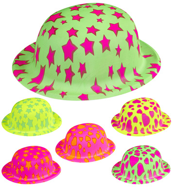 BOWLER HAT STARS/HEARTS - 6 colours