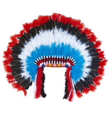 DELUXE INDIAN HEADDRESS WITH MARABOU