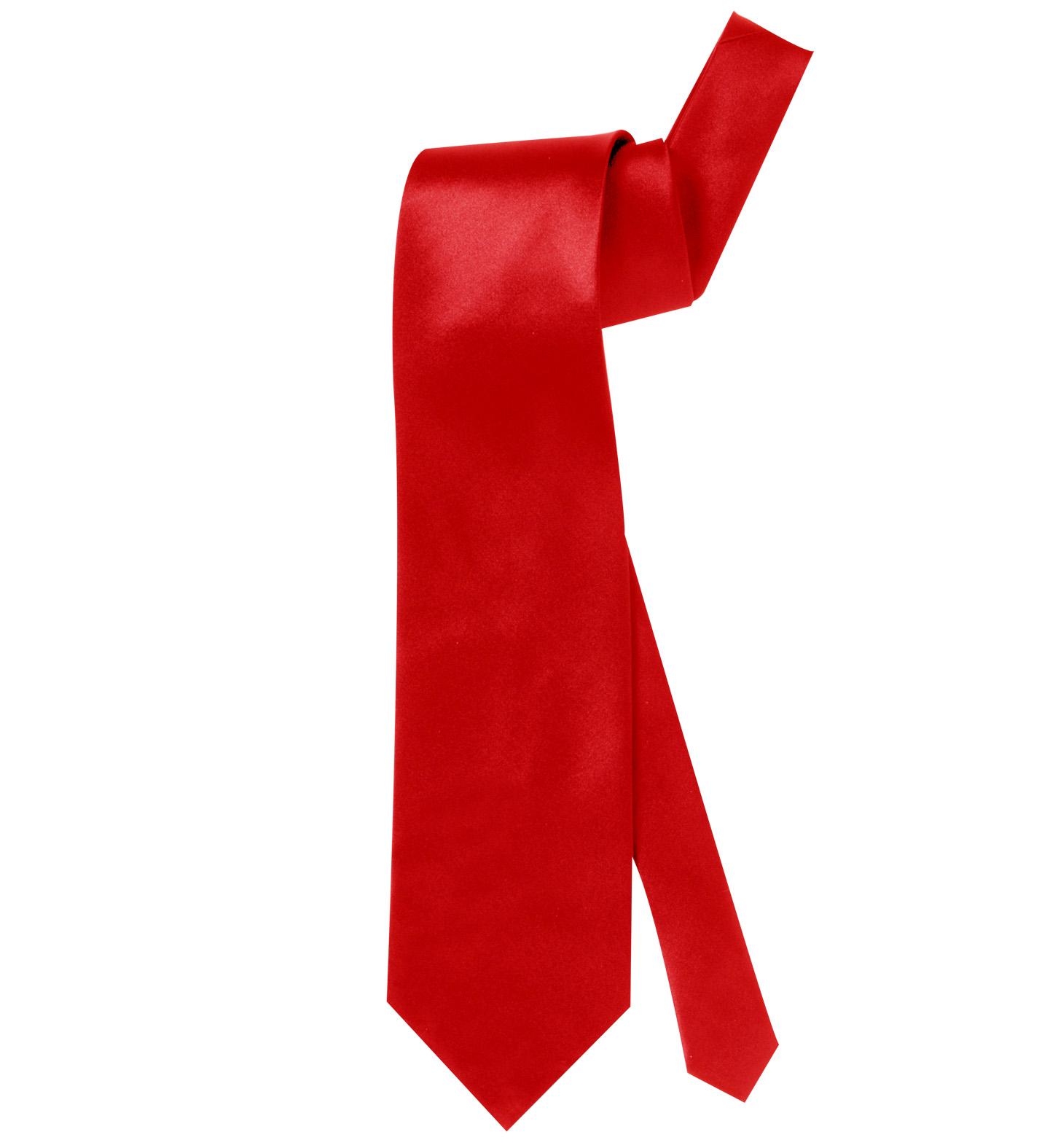 Satin Red Necktie Fancy Dress