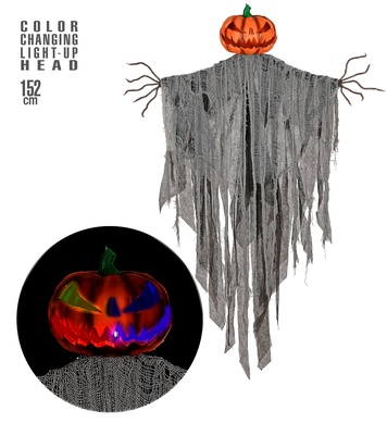 BLINKING EYES SCARECROW 152cm - with TRY ME function