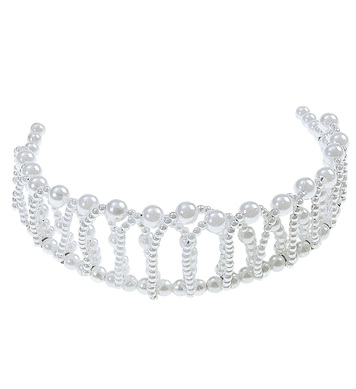 BENDABLE PEARL CROWN TIARA