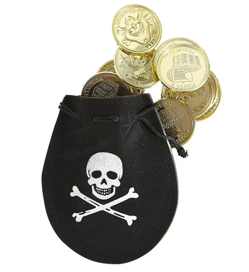PIRATE POUCH W/DOUBLOONS