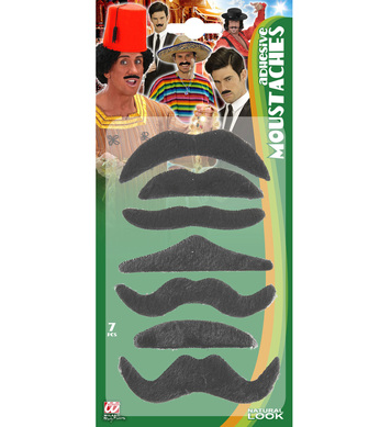 MOUSTACHES - set of 7 assorted styles
