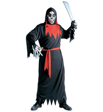 EVIL PHANTOM COSTUME (hooded robe belt mask)