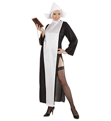 SEXY NUN COSTUME (dress headpiece)