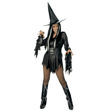 EVIL WITCH COSTUME (dress belt boot covers hat)