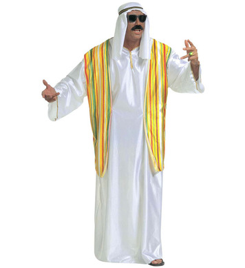 SHEIK COSTUME XL (robe with vest headscarf)
