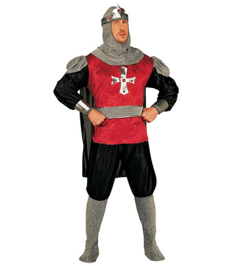 CRUSADER COSTUME R/B (coat cape pants bcovers belt hat)