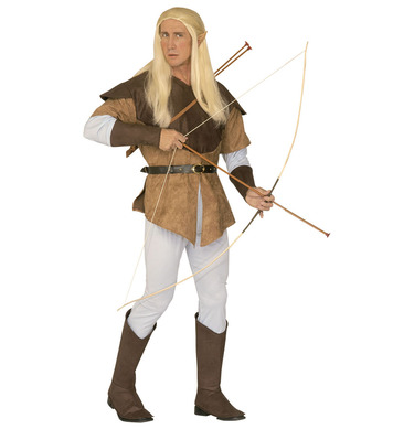 ELF ARCHER COSTUME (shirt overcoat pants belt bcovers)