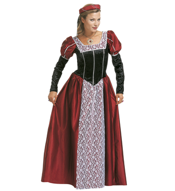 CASTLE BEAUTY COSTUME (dress headpiece with veil)