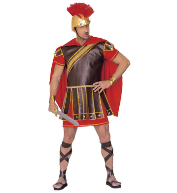 ROMAN CENTURION (dress w/armour wristbands cape hat)