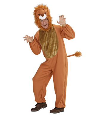LION COSTUME (jumpsuit headpiece mask)