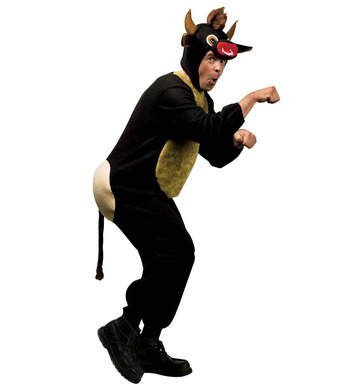 RAGING BULL ANIMAL COSTUME (jumpsuit headpiece mask)