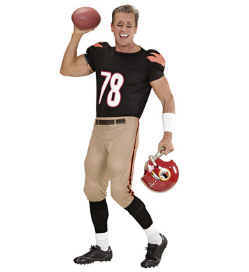AMERICAN FOOTBALLER (stretch stuffed T-shirt & pants)