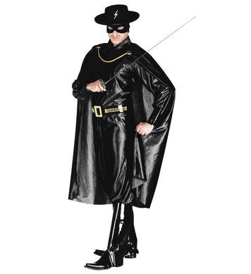 MASKED BANDIT COSTUME (jumpsuit belt bcovers cape mask)