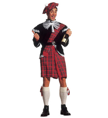 SCOTTISH COSTUME (jacket jabot kilt belt bows hat)