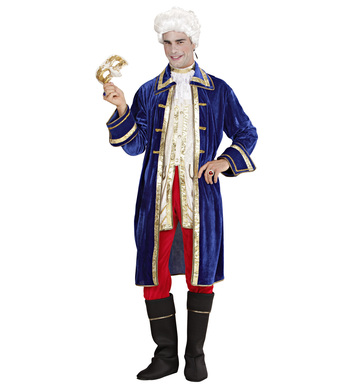 CASANOVA COSTUME (coat jacket jabot pants boot covers)