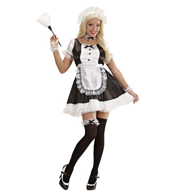 FRENCH MAID DOMINIQUE (dress apron hat jewellery garter