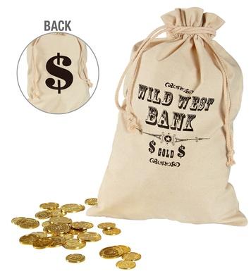 MONEY BAG WILD WEST 30cm x 48 cm
