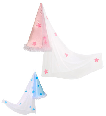 FAIRY HAT SATIN WITH VEIL - 2 colours